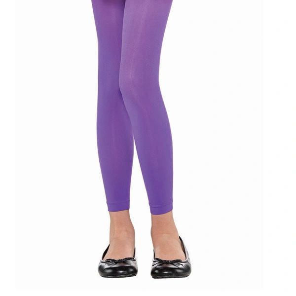 Child Purple Footless Tights