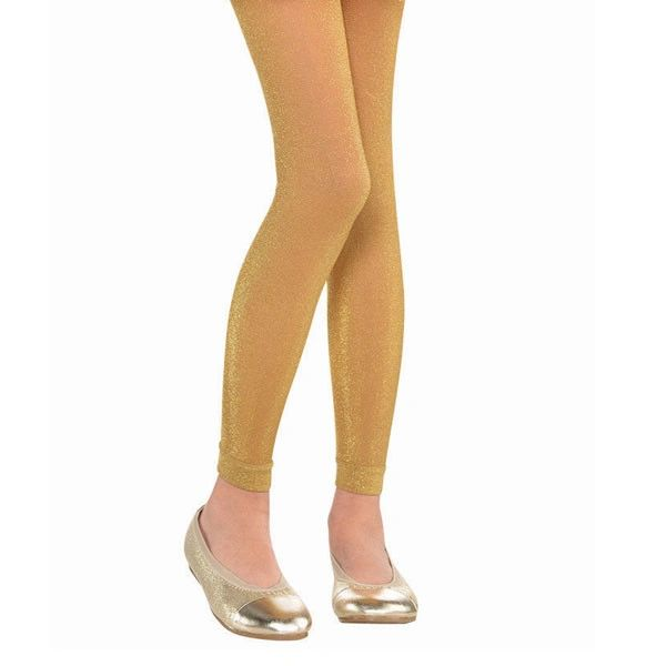 Child Gold Footless Tights