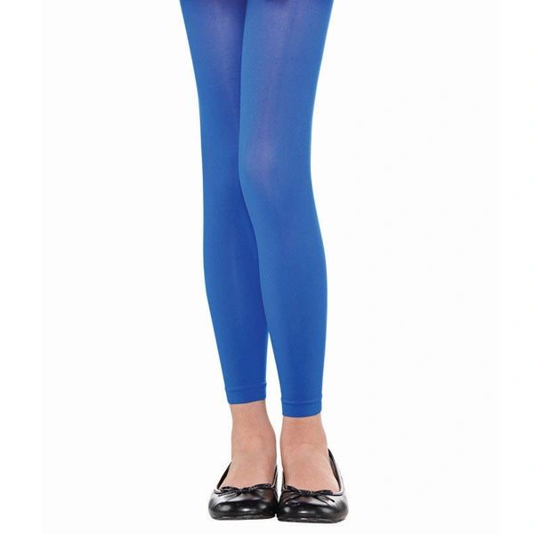 Blue Footless Tights - Child