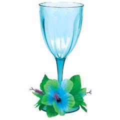 Floral Paradise Cool Plastic Wine Glass 14oz