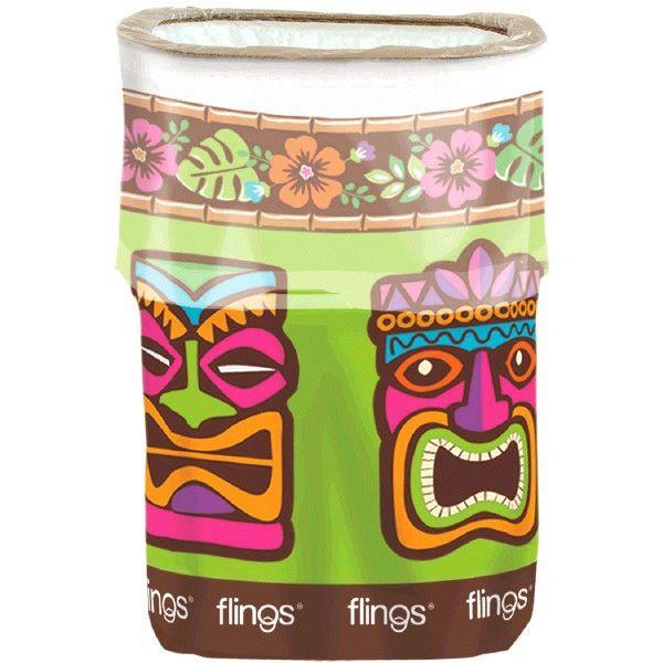 Tiki Flings® Bin - Pop-Up Trash Bin