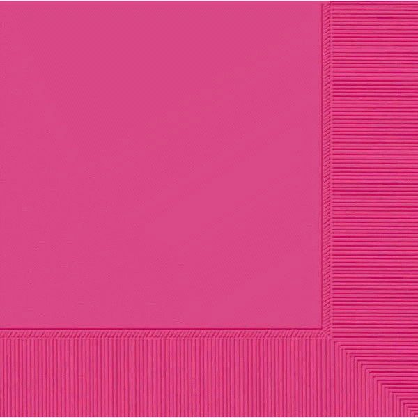 Bright Pink Luncheon Napkins, 50ct