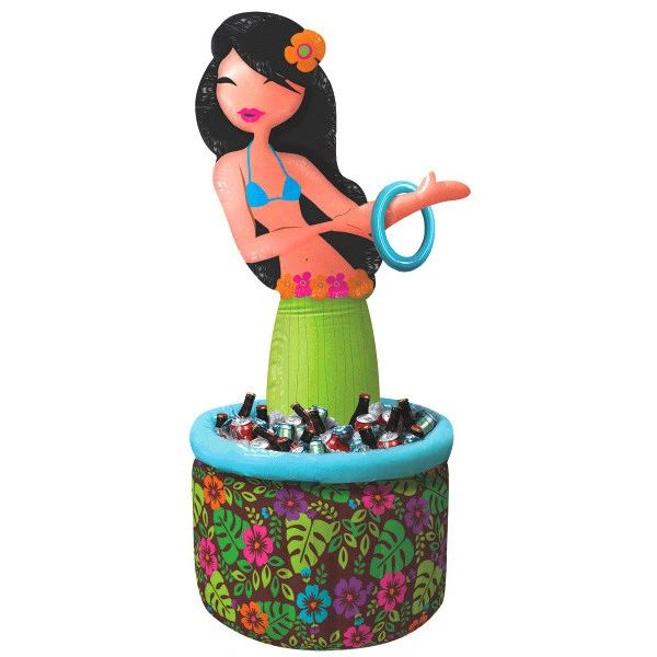 Hula Girl Ring Toss Inflatable Cooler