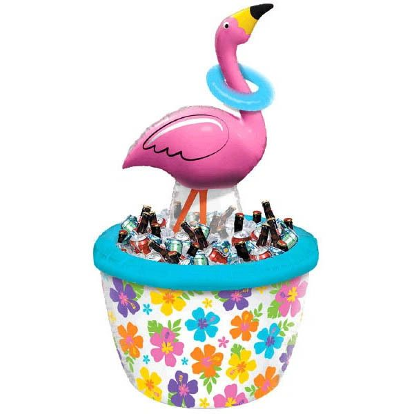 Inflatable Ring Toss Flamingo Cooler