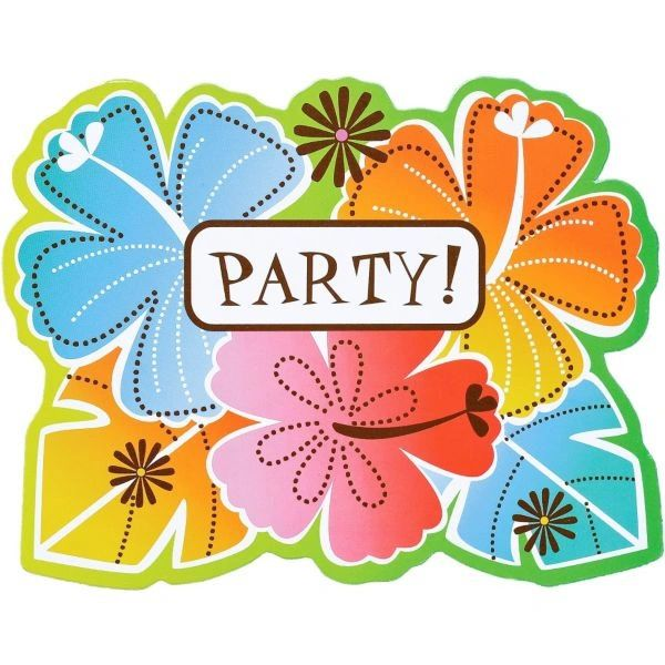 Hot Fun in the Sun Value Pack Invitations, 50ct