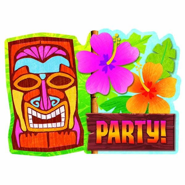 Tiki Man Invitations, 20ct