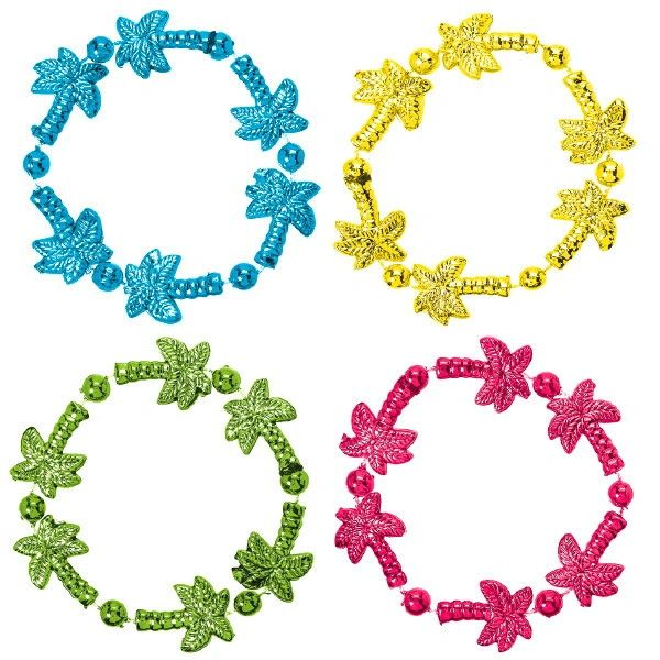 Tropical Beaded Bracelets, 4ct