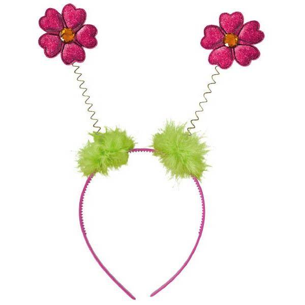 Flower Glitter Head Bopper w/Marabou