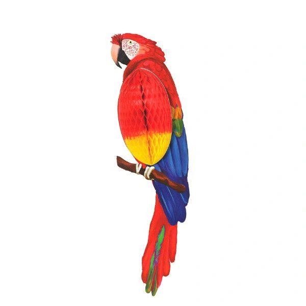 "Parrot Honeycomb Decoration, 23"""