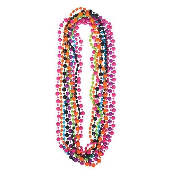 Multicolor 80's Bead Necklaces, 10ct