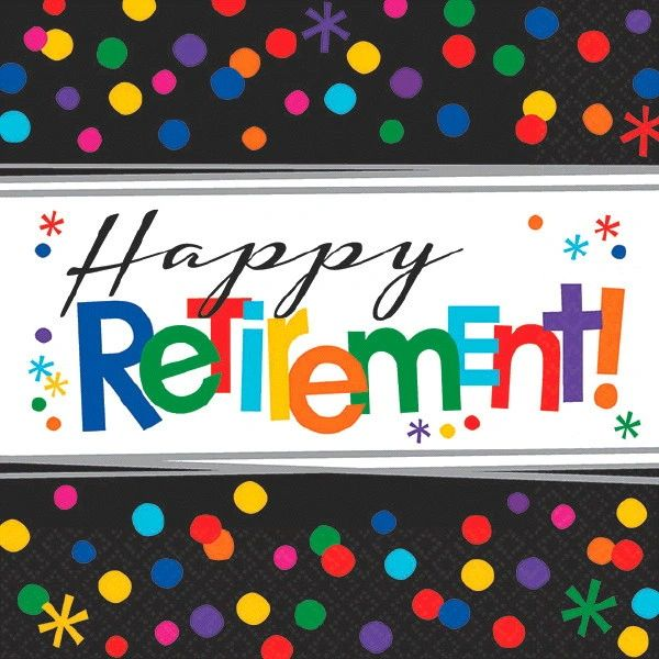 Happy Retirement Celebration Beverage Napkins, 16ct