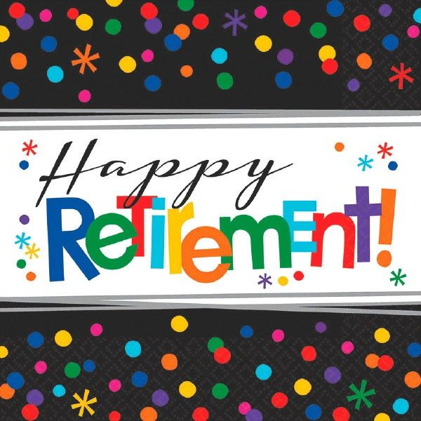 Happy Retirement Celebration Lunch Napkins, 16ct