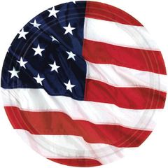 "Flying Colors American Flag Dessert Plates, 7"" - 8ct"
