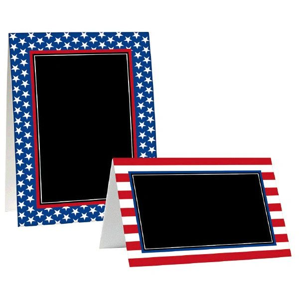 Patriotic Tent Cards, 8ct