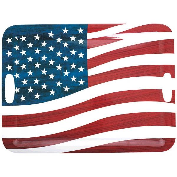 Patriotic Large Plastic Serving Tray