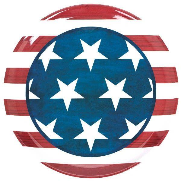 Patriotic Round Plastic Platter