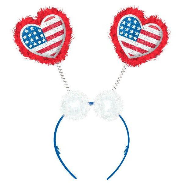 Patriotic Hearts Head Bopper