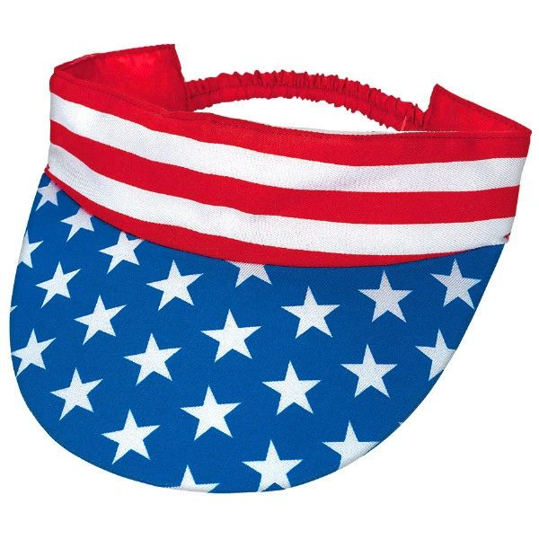 Patriotic American Flag Visor