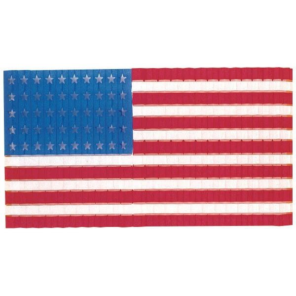 Stars-N-Stripes Honeycomb Flag Door Drop