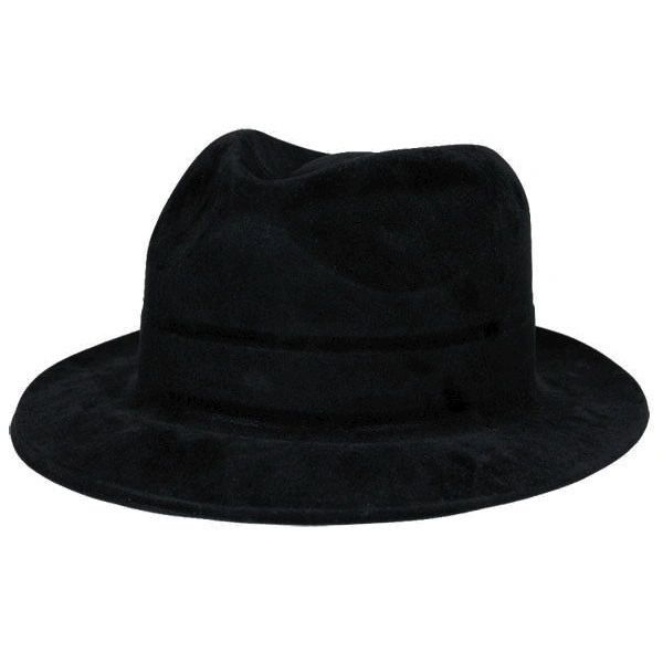 Black Felt Hollywood Gangster Hat