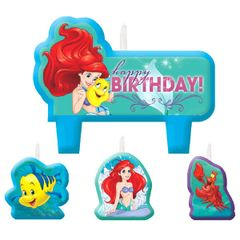 ©Disney Ariel Dream Big Birthday Candle Set