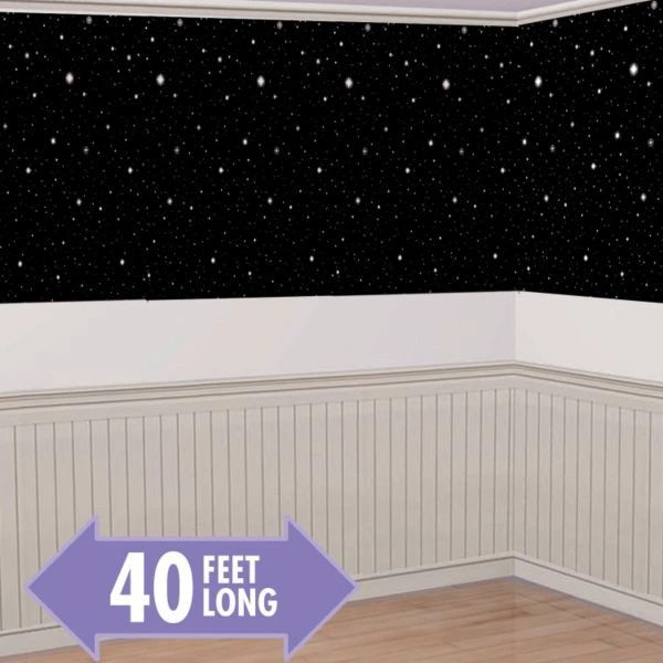 Hollywood Starry Nights Plastic Room Roll, 40ft