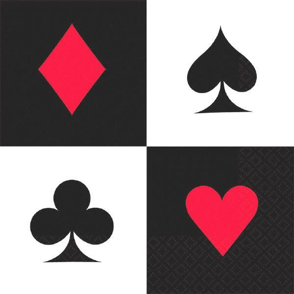 Place Your Bets Casino Lunch Napkins, 16ct