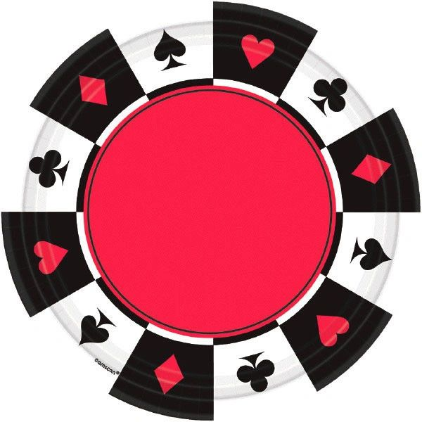 """Place Your Bets Casino Dessert Plates, 7"""" - 8ct"""