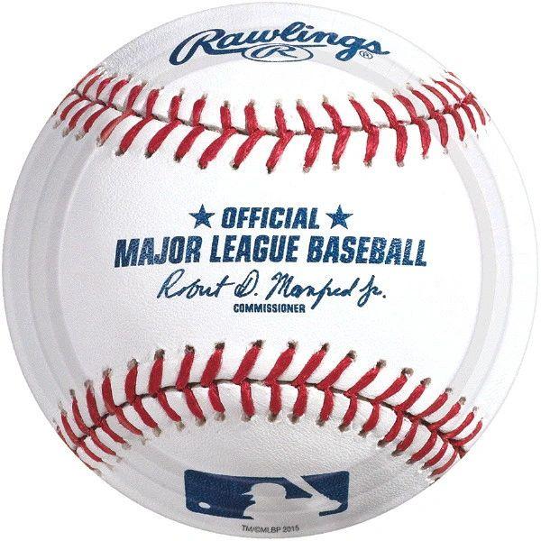 "Rawlings™ Baseball Dessert Plates, 7"" - 8ct"