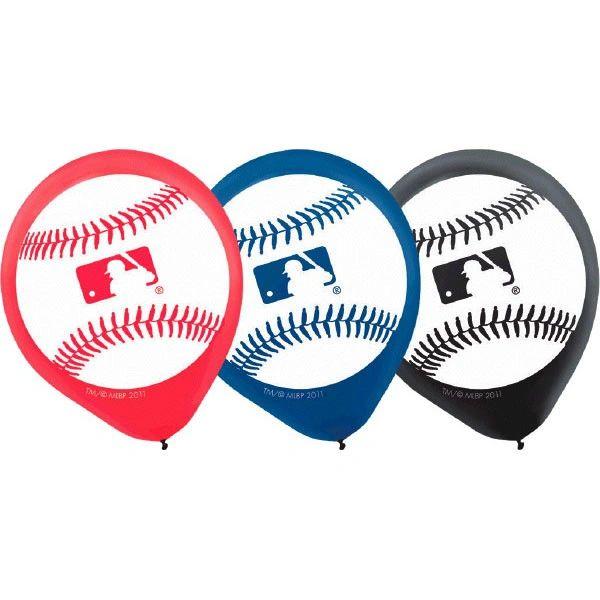 Rawlings MLB Latex Balloons 6ct