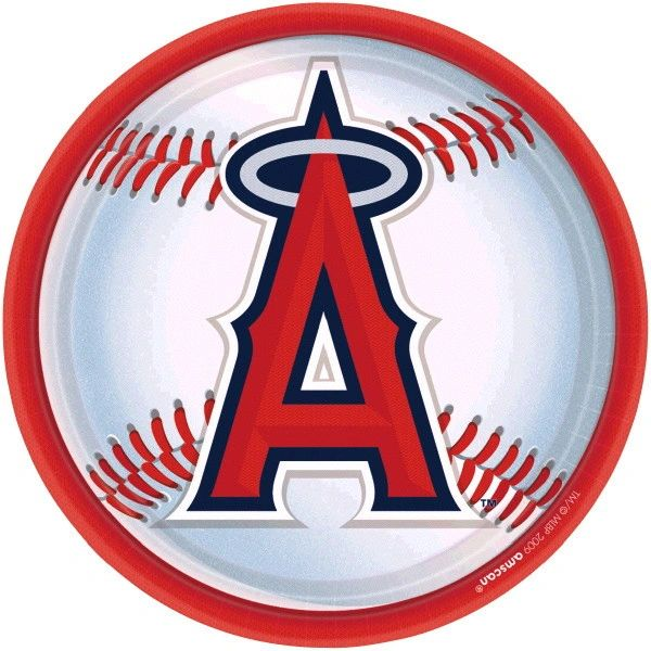 """Los Angeles Angels Lunch Plates, 9"""" - 18ct"""