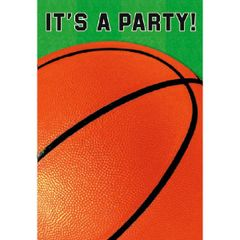 Basketball Fan Folded Invitations, 8ct