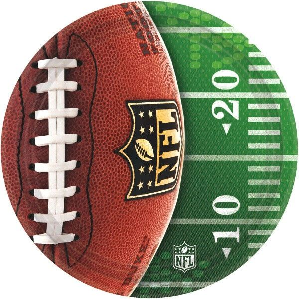 "NFL Drive 10 1/2"" Dinner Plates, 8ct"