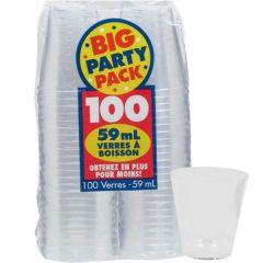 Big Party Pack CLEAR Shot Glasses, 2oz - 100ct