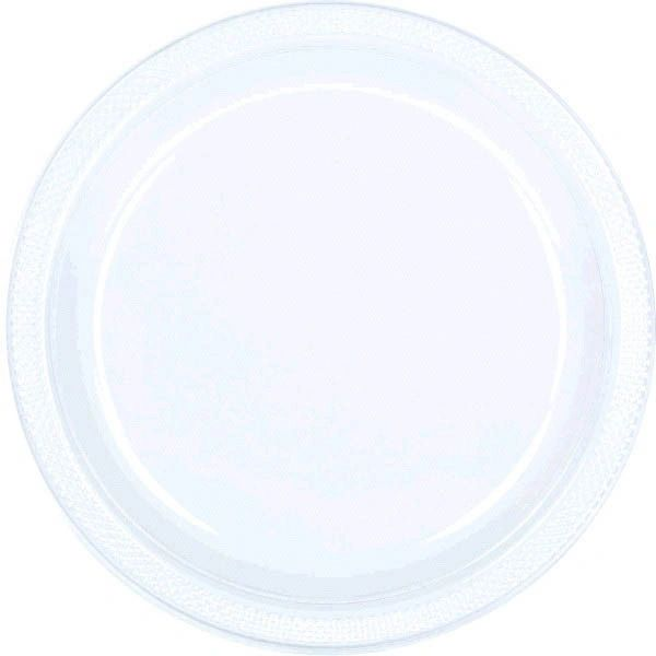 """Clear Dinner Plates, 10 1/4"""" - 20ct"""