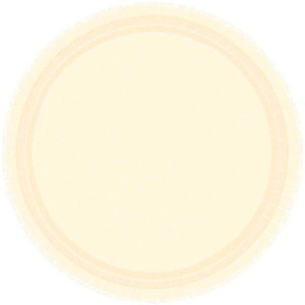 "Vanilla Crème Dessert Plates, 7"" - 20ct"