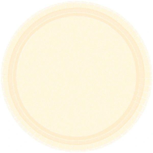 "Vanilla Crème Lunch Plates, 9"" - 20ct"