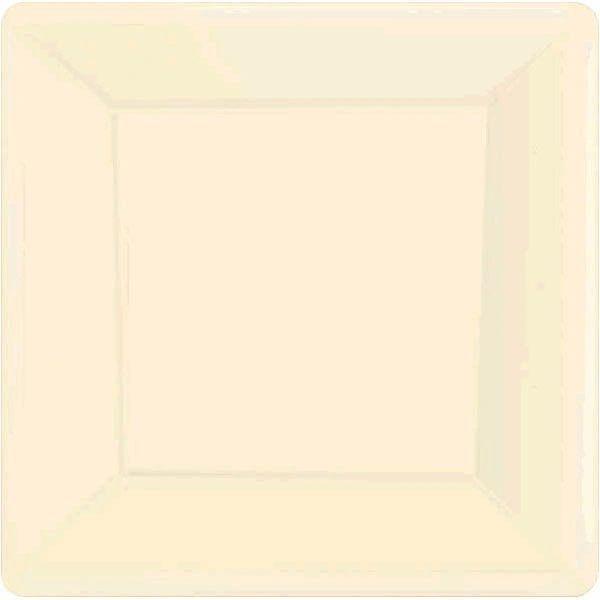 """Vanilla Crème Square Paper Plates, 7"""" 20ct"""