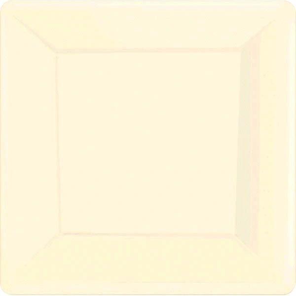"""Vanilla Crème Square Dinner Plates, 10 1/4"""" - 20ct"""