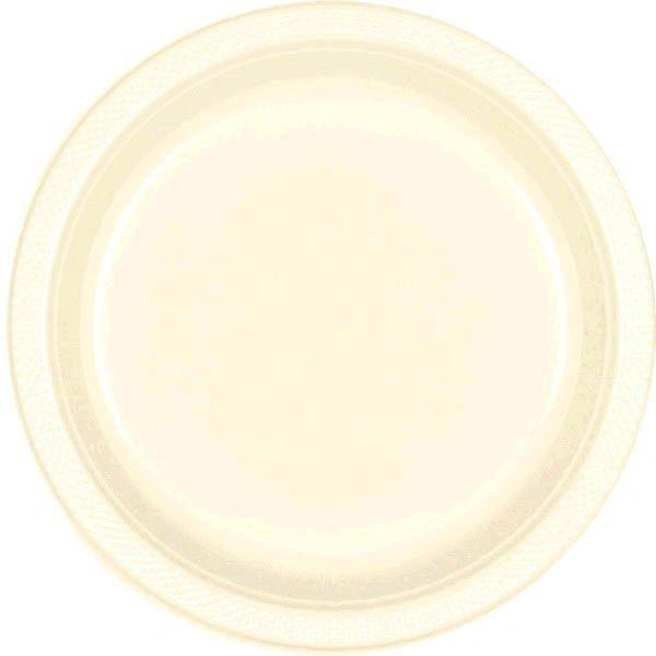 """Vanilla Crème Plastic Plates, 7"""""""