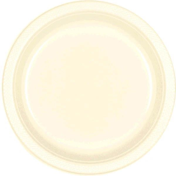 "Vanilla Crème Dinner Plates, 10 1/4"" - 20ct"