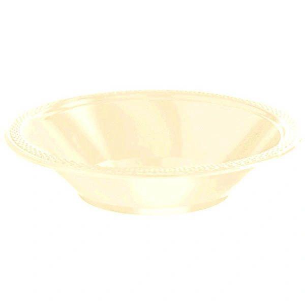 Vanilla Crème Plastic Bowls, 12oz - 20ct
