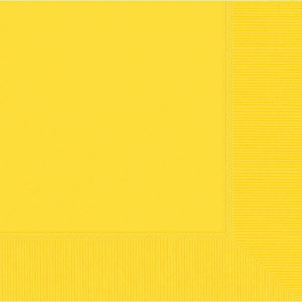 Yellow Sunshine 3-Ply Dinner Napkins, 20ct