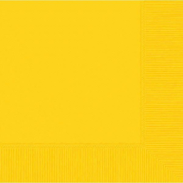 Yellow Sunshine 2-Ply Beverage Napkins, 50ct