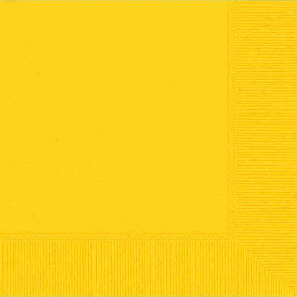 Yellow Sunshine 2-Ply Beverage Napkins, 50ct