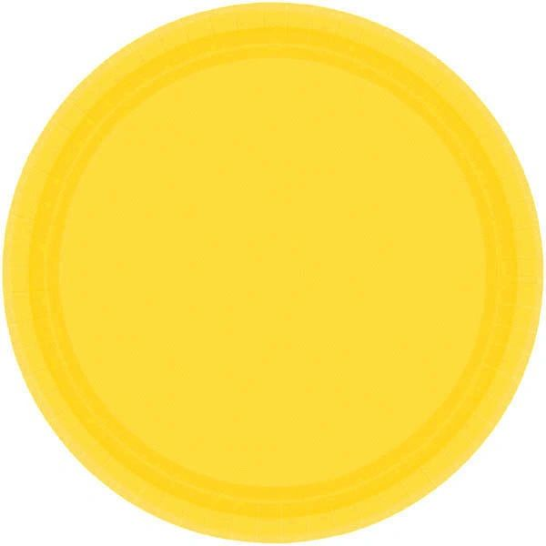 "Yellow Sunshine Dessert Plates, 7"" - 20ct"