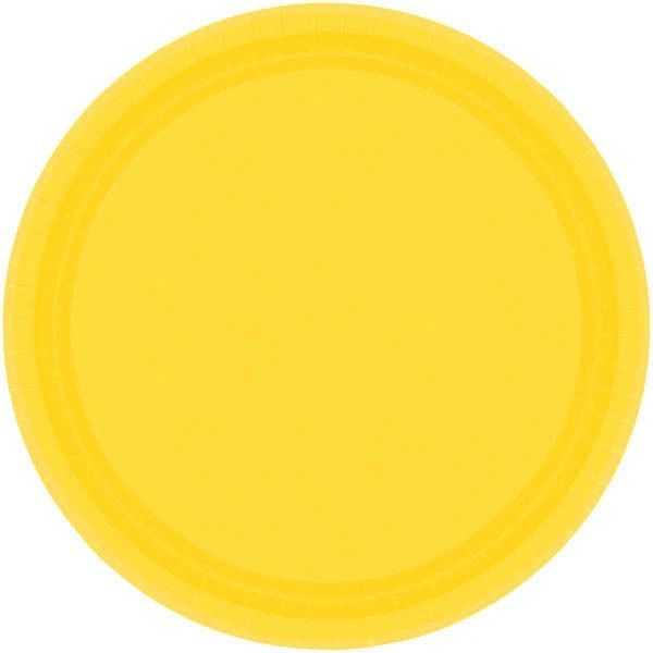 "Yellow Sunshine Lunch Plates, 9"" - 20ct"