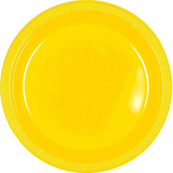"Yellow Sunshine Dinner Plates, 10 1/4"" - 20ct"