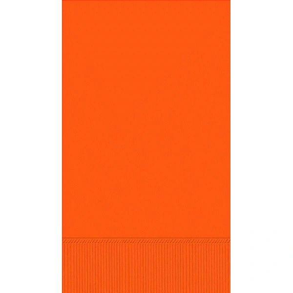 Orange 3-Ply Guest Towels, 16ct