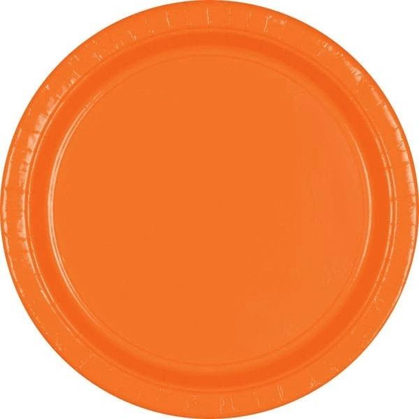 "Orange Lunch Plates, 9"" - 20ct"